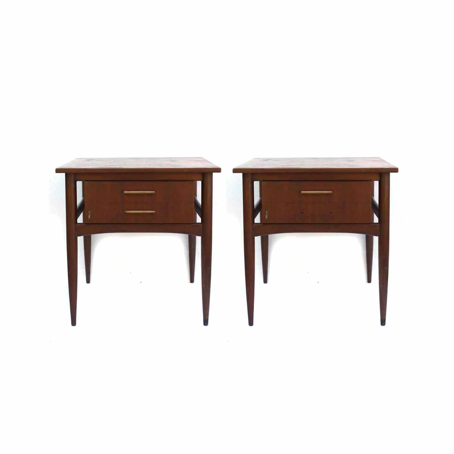 Two Mid Century Modern End Tables by Hekman