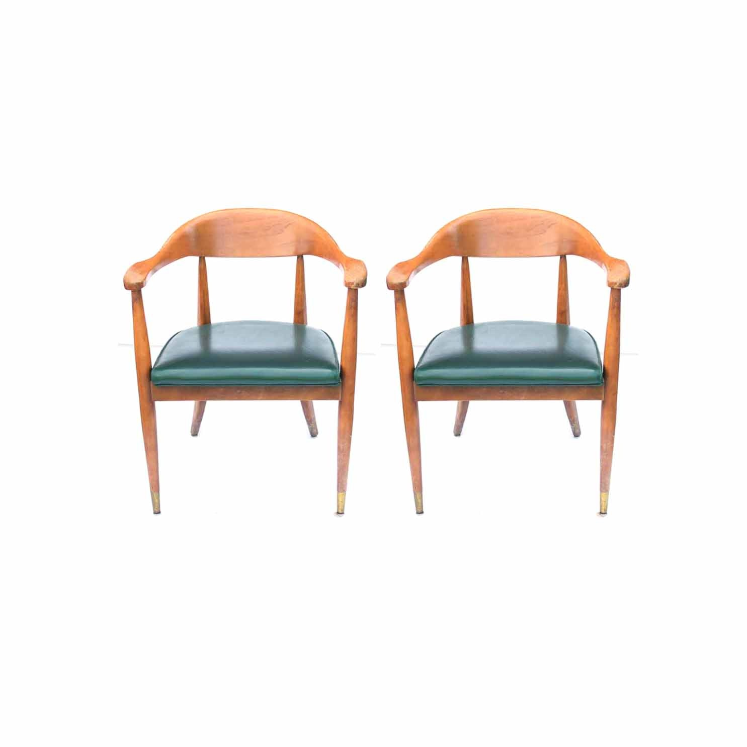 Two Mid Century Modern Armchairs