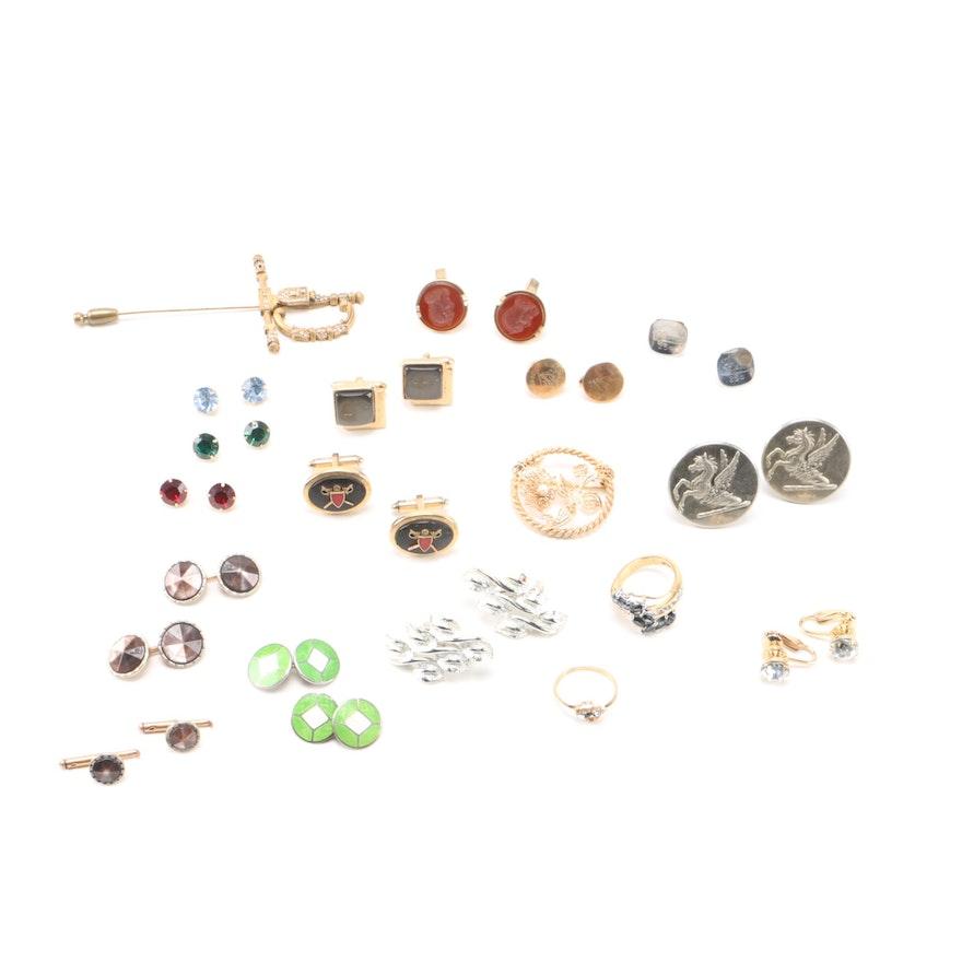 460834420071 Costume Jewelry Assortment Including a De Nicola Pin   EBTH
