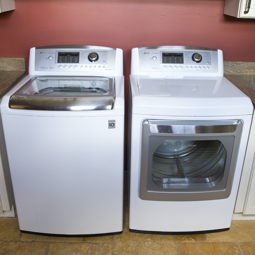 Lg Waveforce Washer And Truesteam Dryer