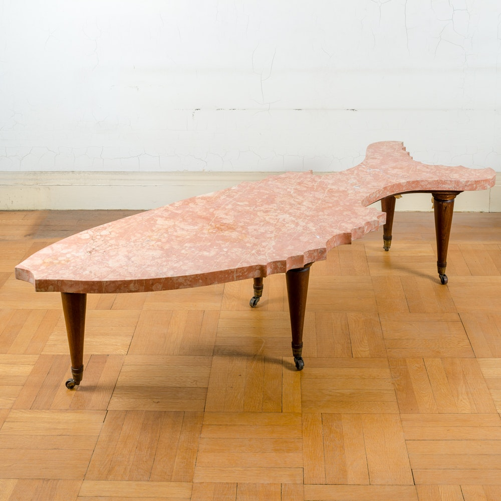 Captivating Fish Shaped Marble Top Table ...