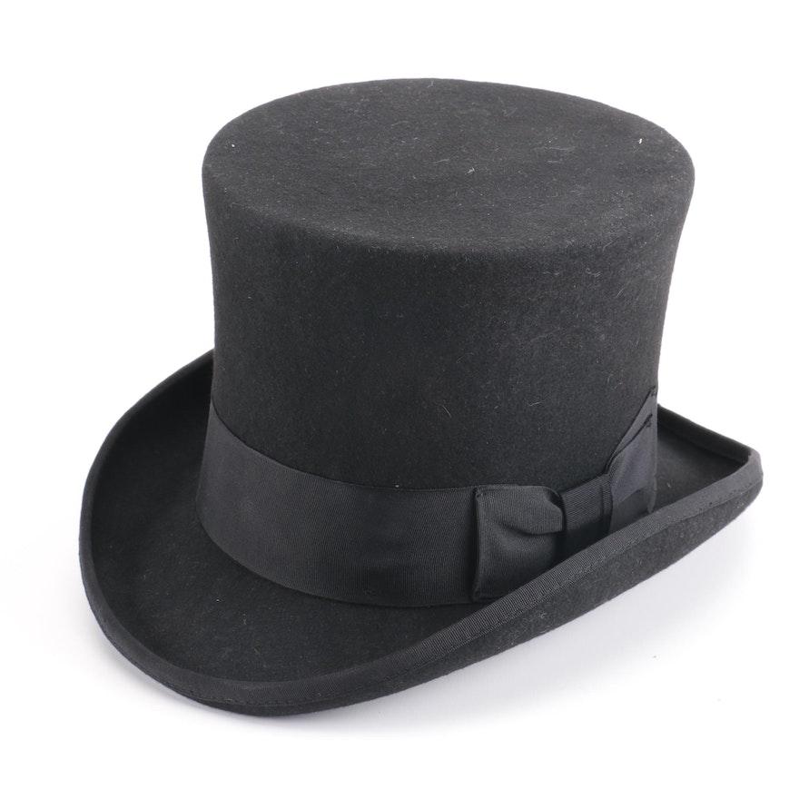 Hats In The Belfry Wool Felt Top Hat Ebth