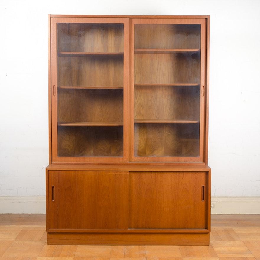 Danish Modern Teak Bookcase Cabinet By A S Hundevad