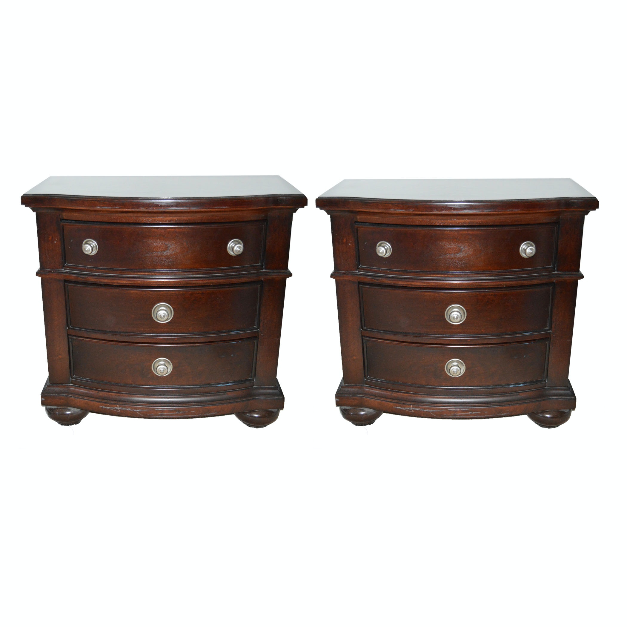 Pair of Mahogany Stained Nightstands