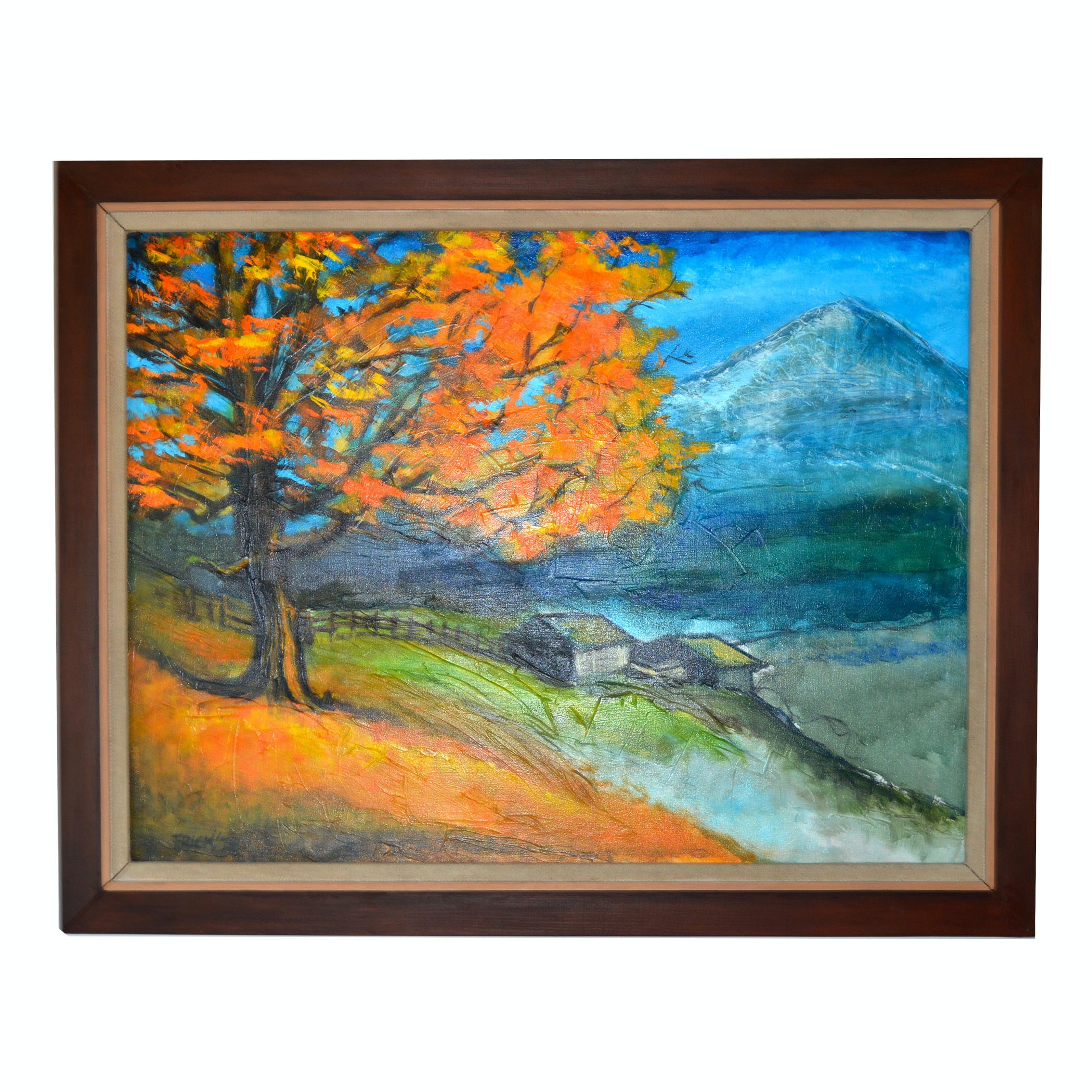 Fall Oil Painting on Canvas by Ron Frick