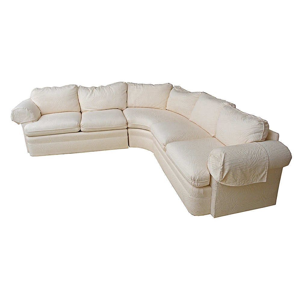 Thomasville White Sectional Sofa