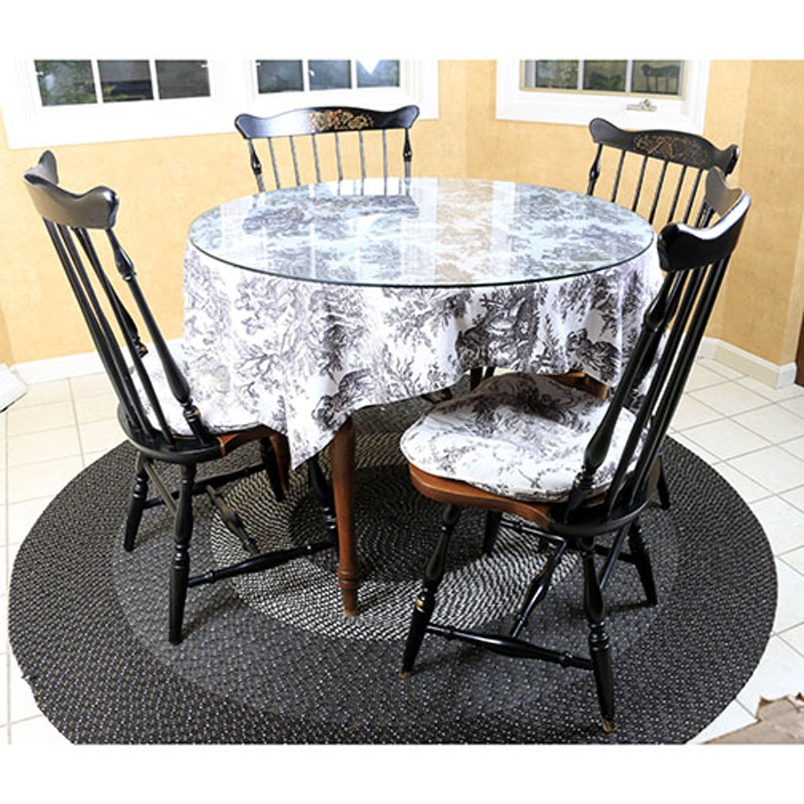 L Hitchcock Table And Chairs