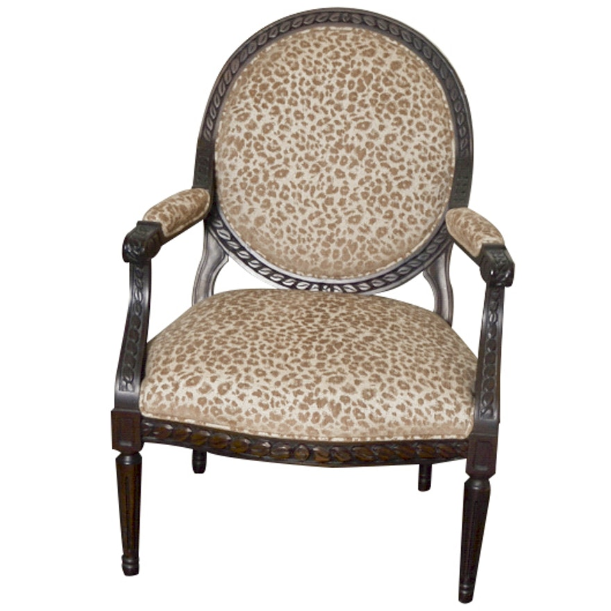 Armchair with Leopard Print Upholstery | EBTH