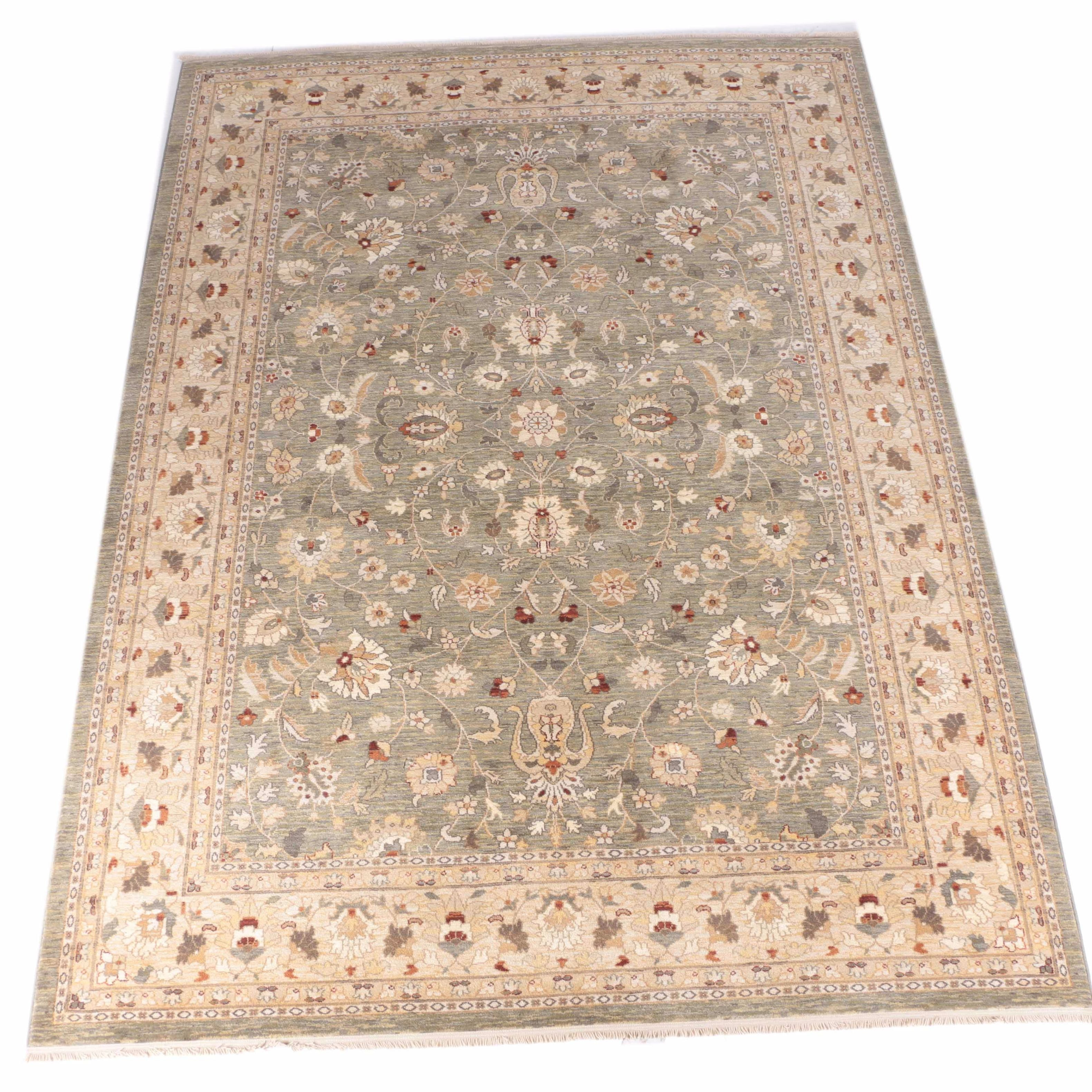 Kingsley House Collection Wool Machine Loomed Area Rug Ebth