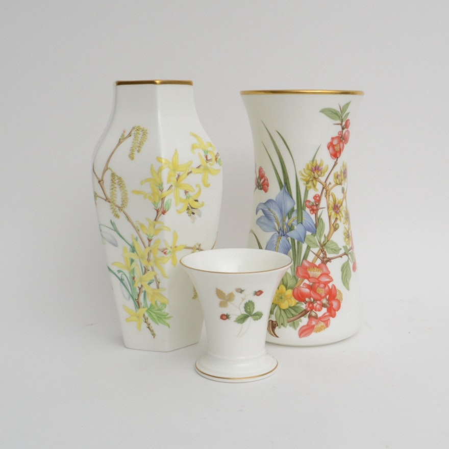 Limited Edition Royal Horticultural Society Wedgwood Vases Ebth