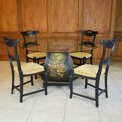 arhaus dining tables and chairs glass top dining room table and four arhaus seat 348
