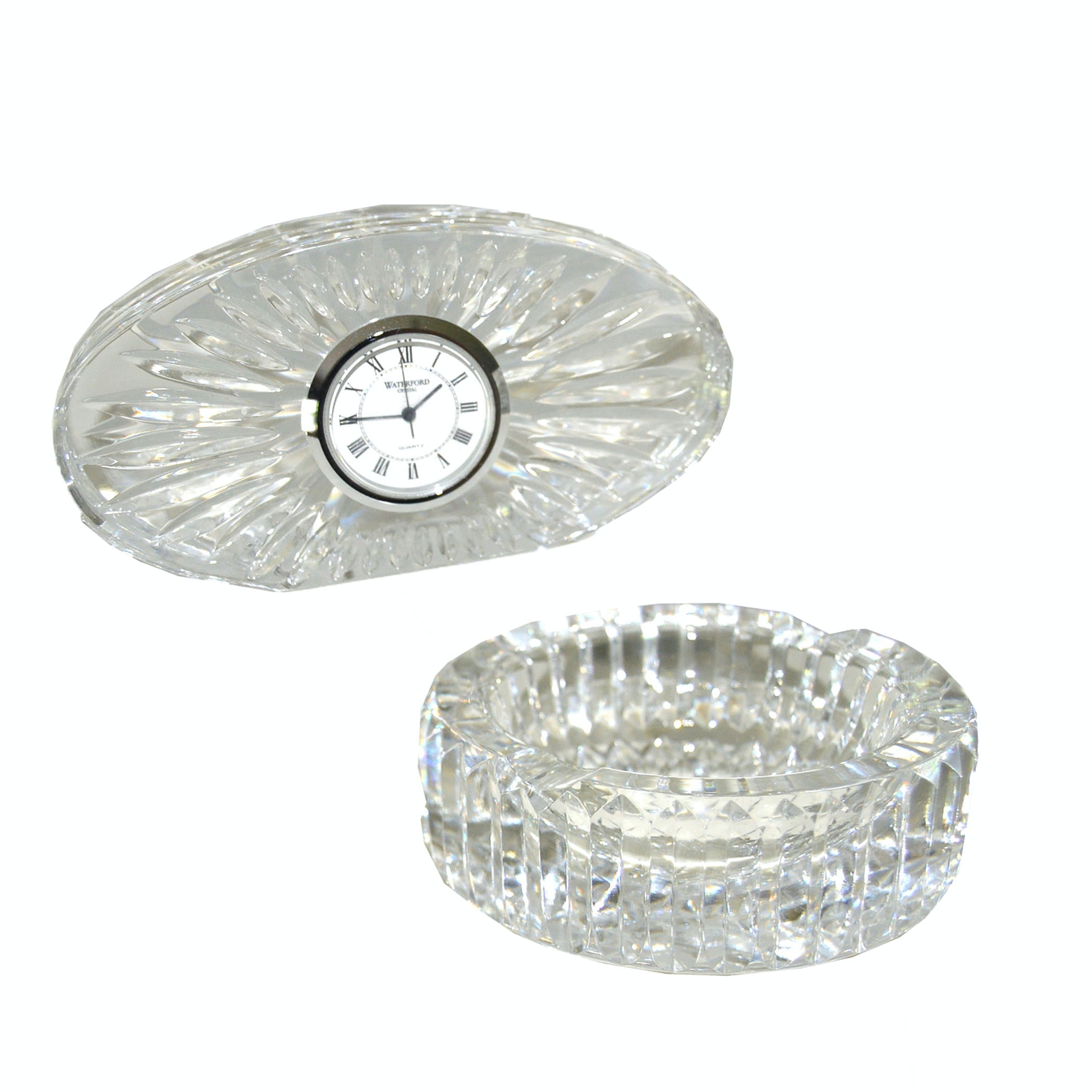Waterford Crystal Clock and Ash Receiver