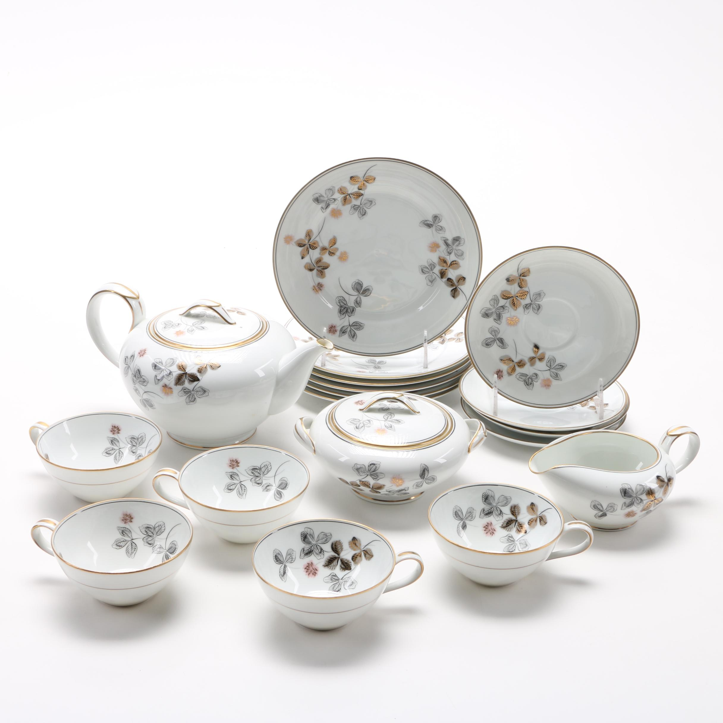 Noritake Tea Set with Dessert Plates ...  sc 1 st  EBTH.com & Noritake Tea Set with Dessert Plates : EBTH