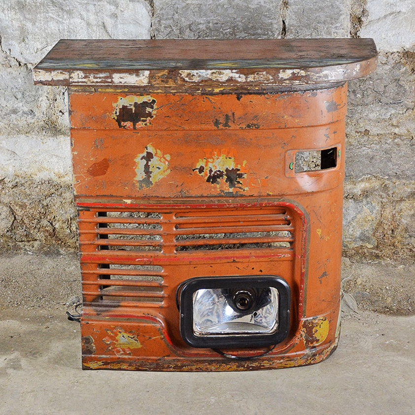 Vintage Home Bar Made From Repurposed Car Parts