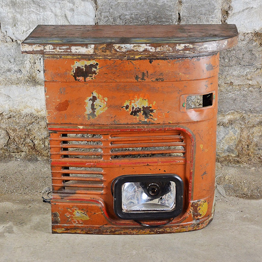 Vintage Home Bar Made From Repurposed Car Parts Ebth
