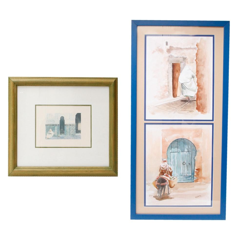 Pair of Framed Islamic Art Pieces