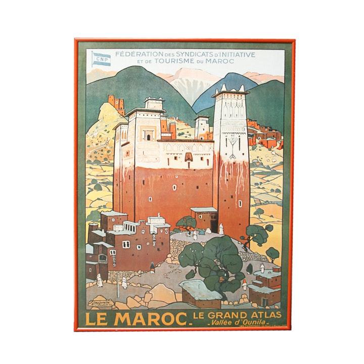 """Jacques Majorelle Offset Lithograph Poster """"Le Maroc"""""""