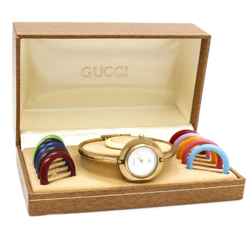 b626ab1f77f Gucci Interchangeable Bezel Wristwatch   EBTH