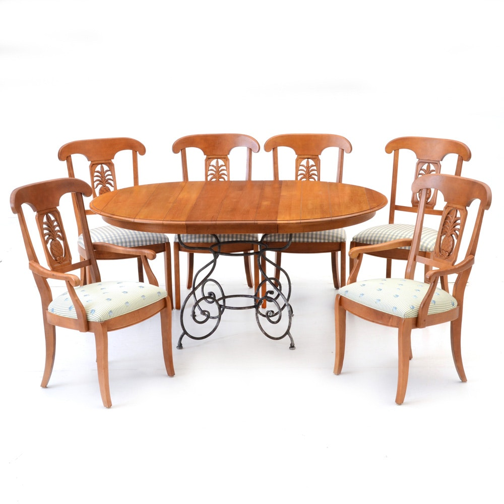 Ethan Allen quotLegacyquot Collection Dining Table and Chairs EBTH : JJM3667jpgixlibrb 11 from www.ebth.com size 880 x 906 jpeg 99kB
