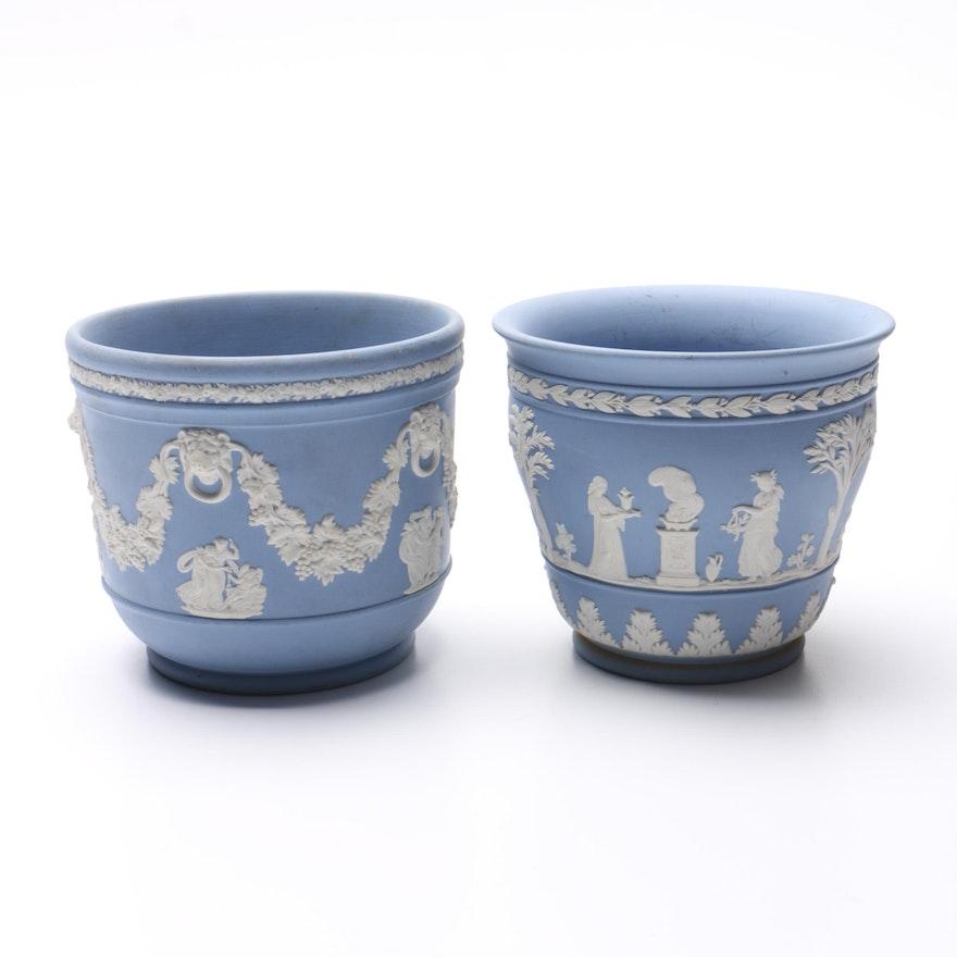 Blue And White Wedgwood Vases Ebth