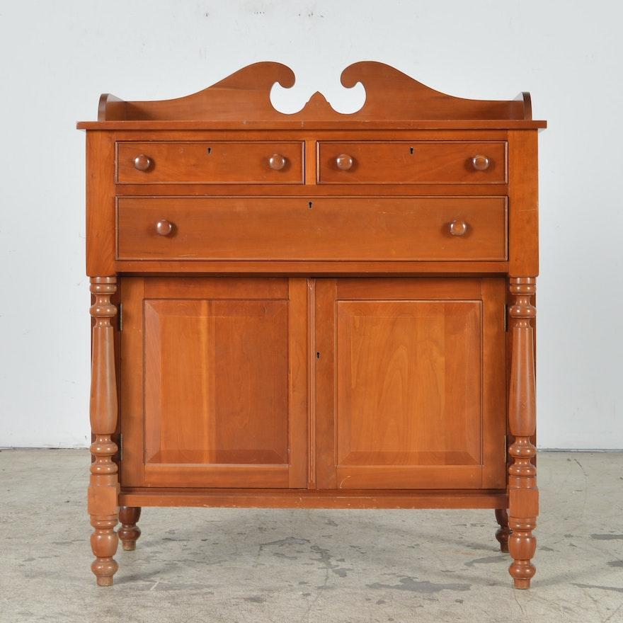 Cherry Reproduction American Empire Style Sideboard By Cady Furniture Co Of Bowling Green Ky Ebth