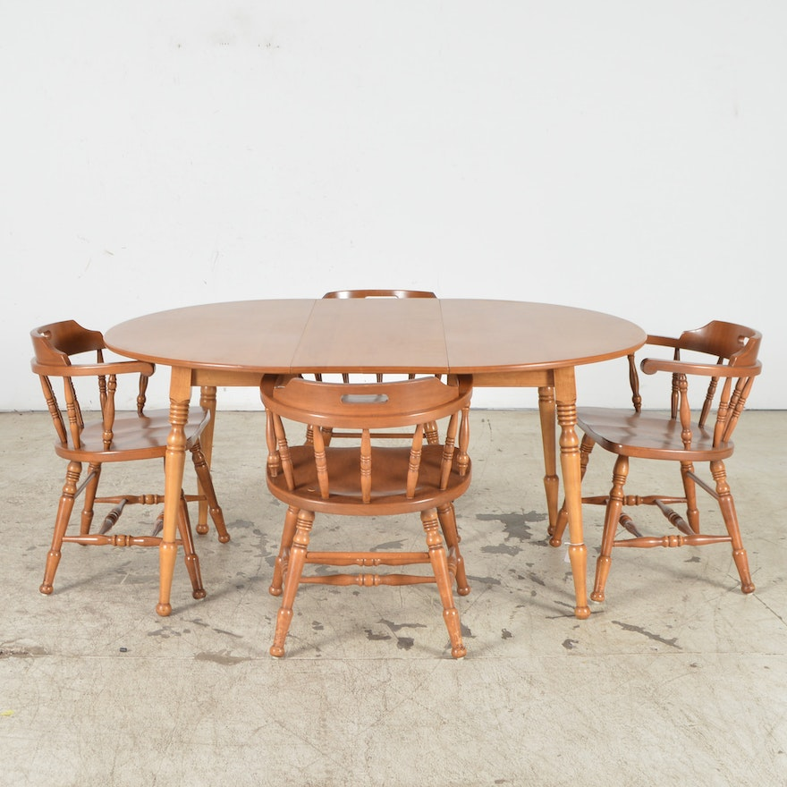 S Bent Bros Colonial Dining Table Chairs EBTH