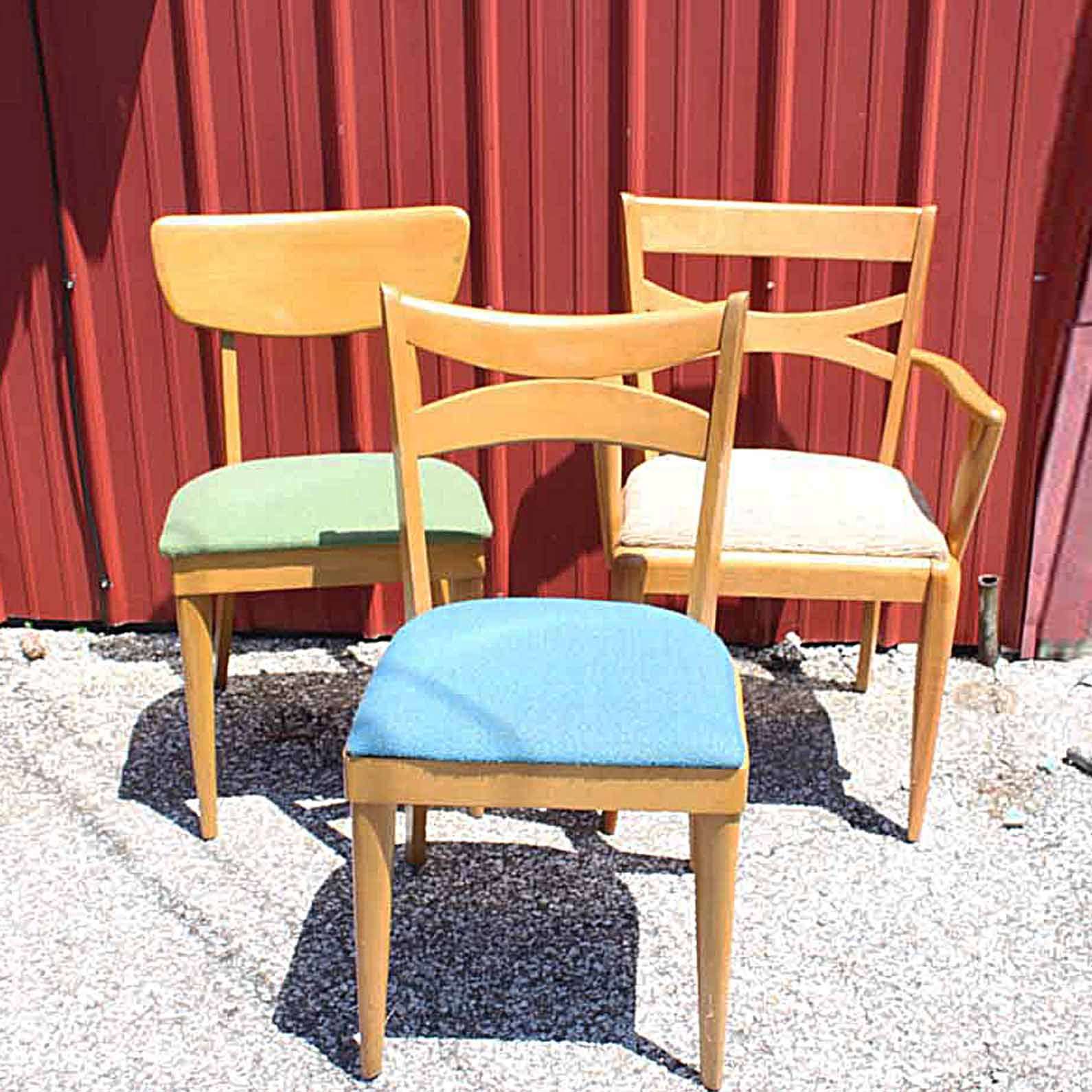 Three Mid Century Modern Chairs