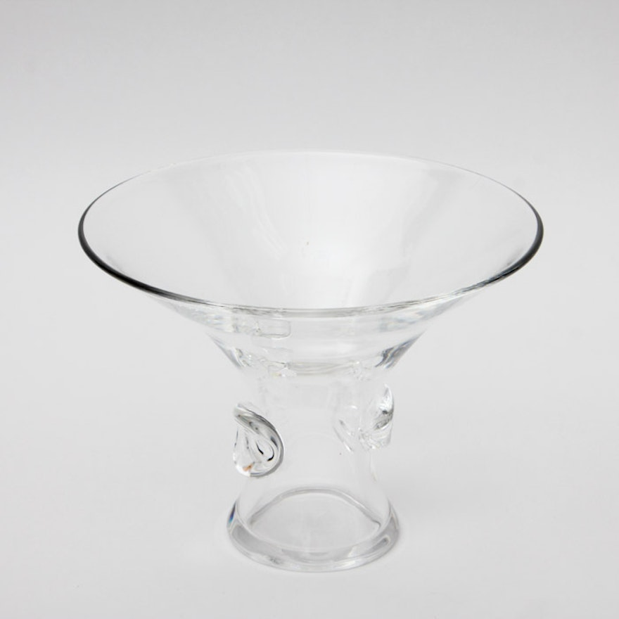 Steuben Crystal Vase With Dust Bag Ebth