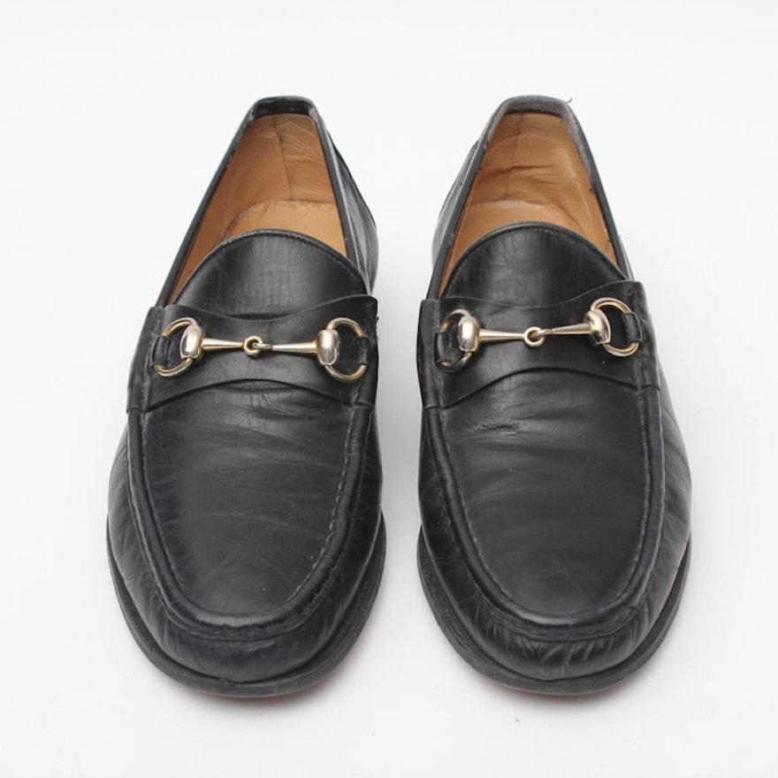 9279dbd7b Vintage Gucci Black Leather Loafers : EBTH