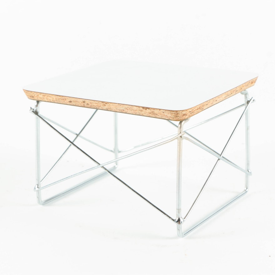 Miniature Wire Base Side Table By Herman Miller