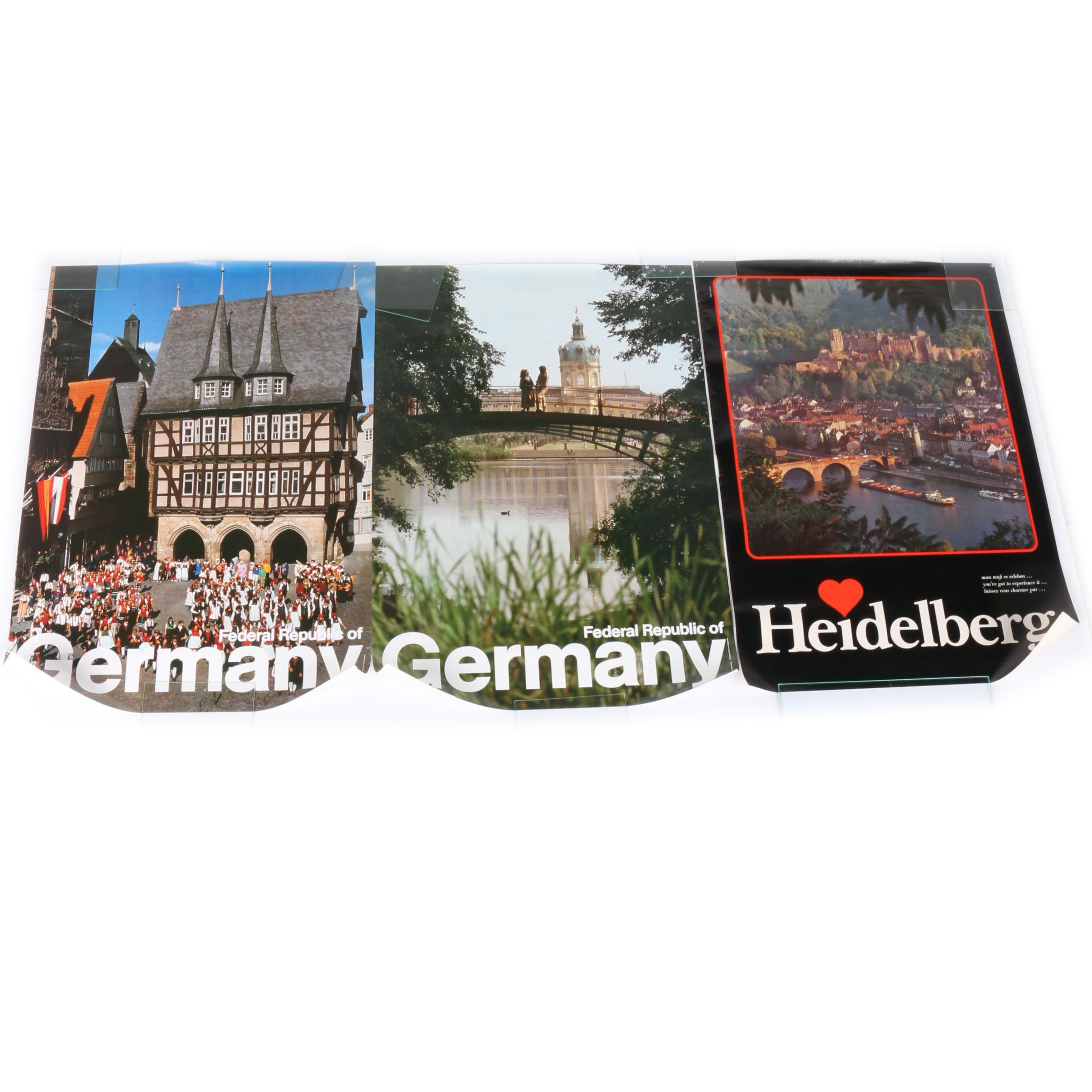 1980s West German Offset Lithograph Tourism Posters