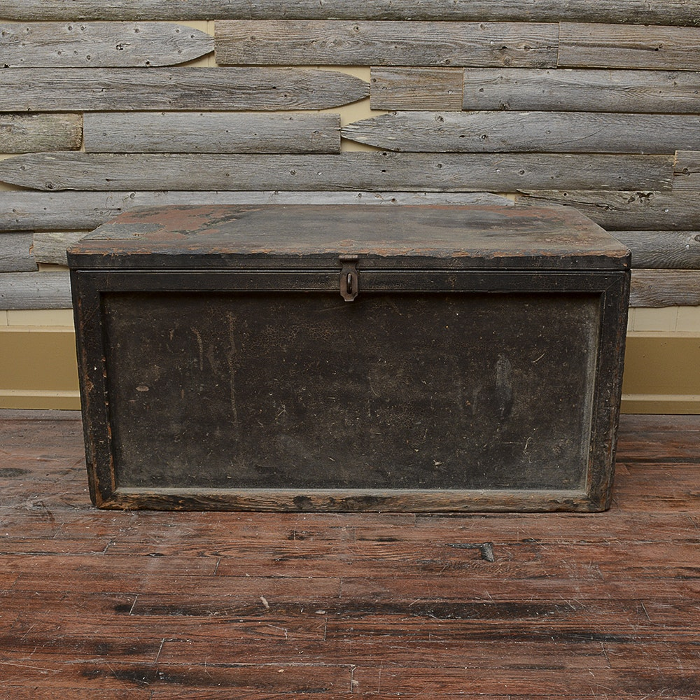 Antique Flat Top Trunk
