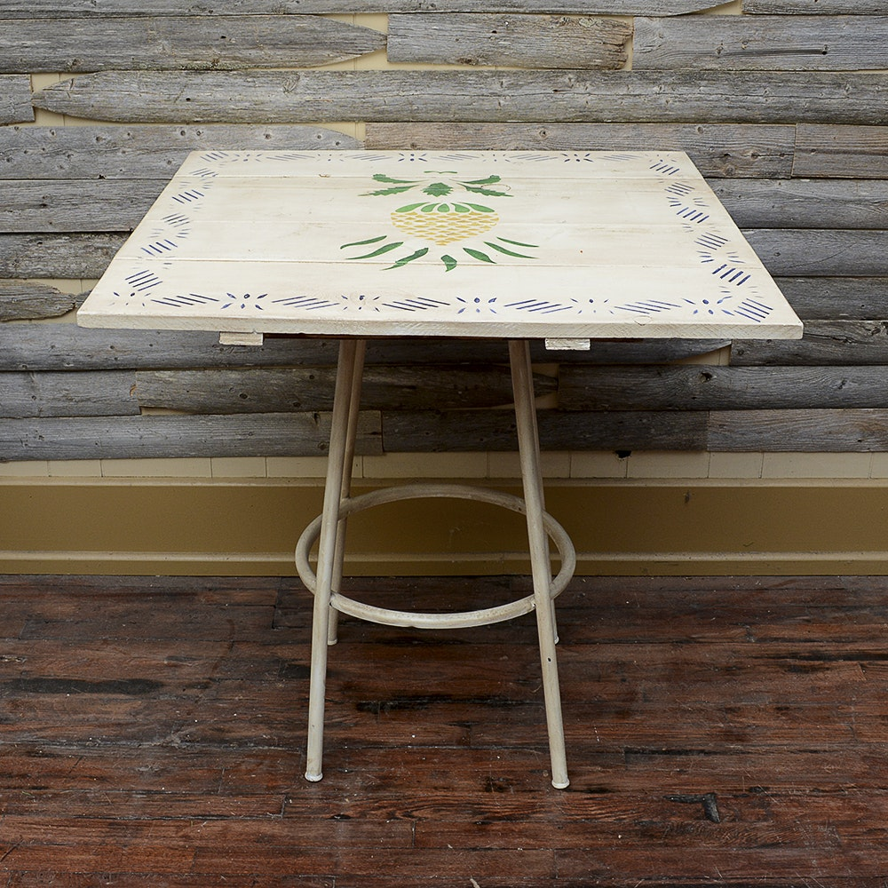 Repurposed Hand Painted Table