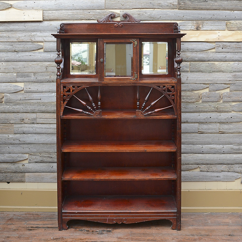 Turn-of-the-Century Mahogany Bookcase Cabinet from J. H. Little & Co.