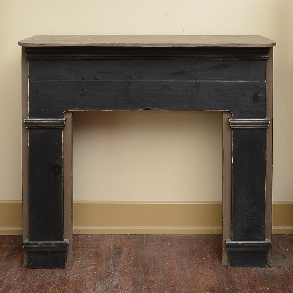 Painted Pine Mantel