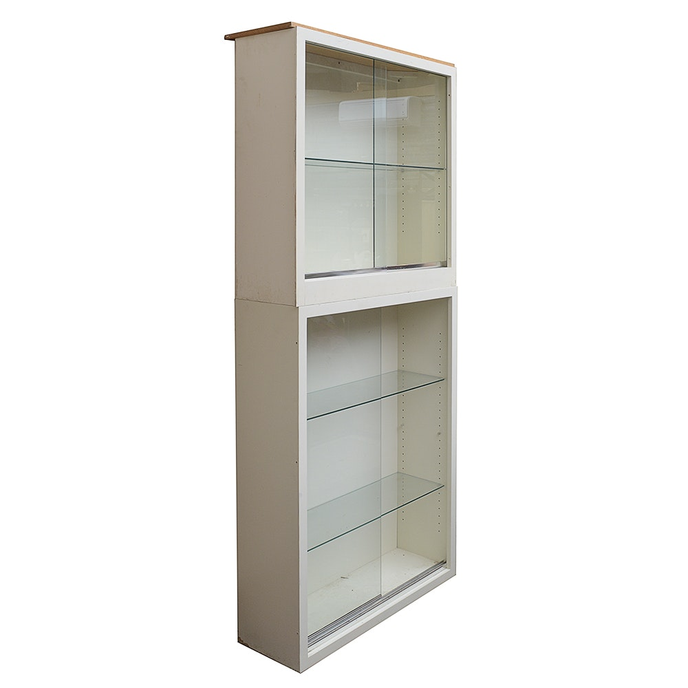 Contemporary Glass Fronted Stackable Cabinets ...