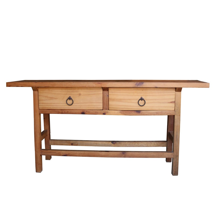 Super Mexican Pine Console Table With Drawers Caraccident5 Cool Chair Designs And Ideas Caraccident5Info