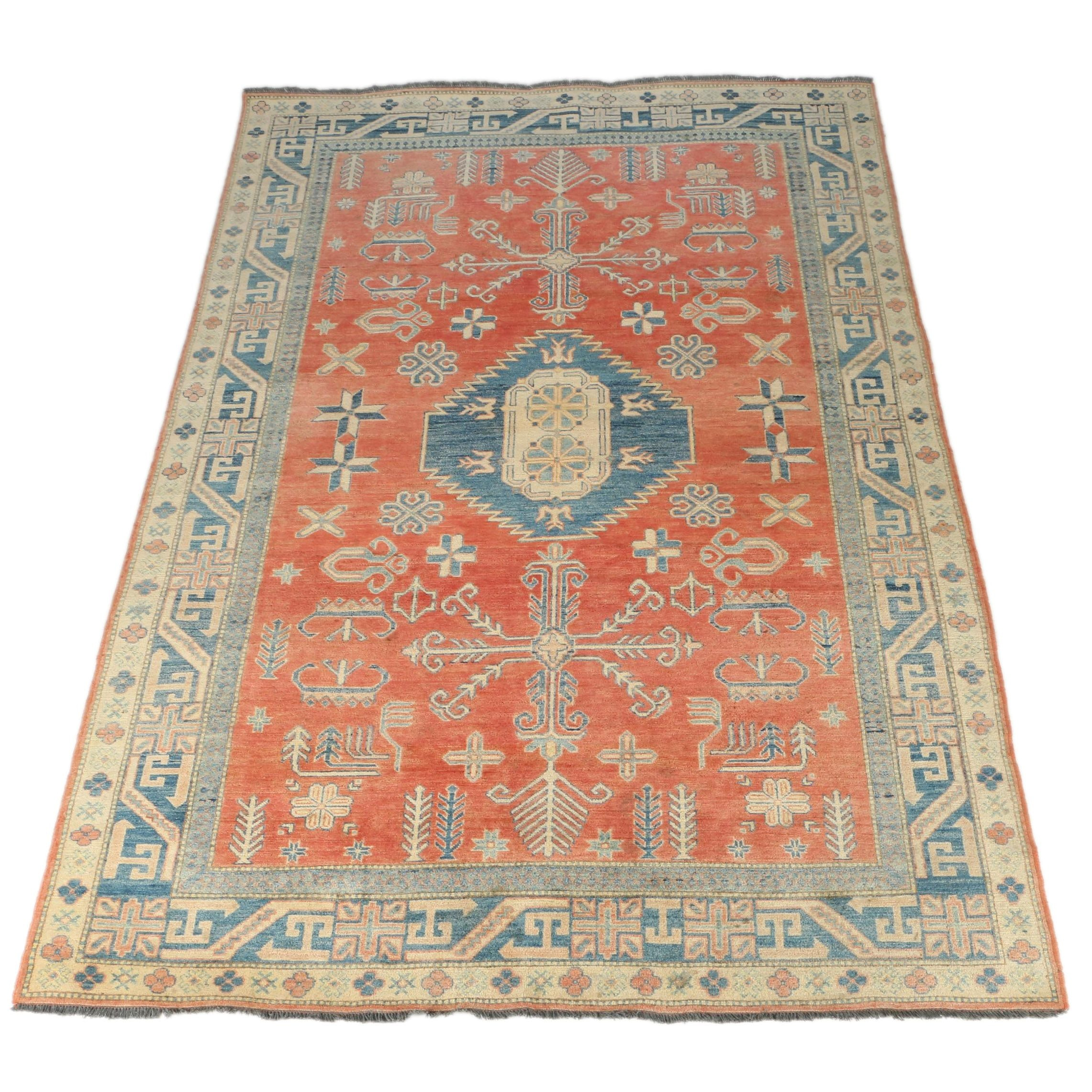 Hand-Knotted Turkish Oushak Area Rug