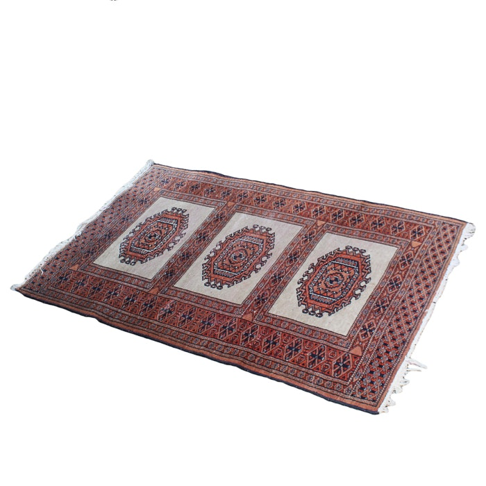Hand Knotted Turkmen Salor Wool Accent Rug