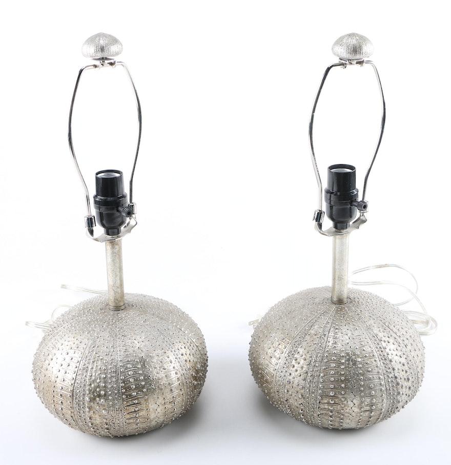 Sea Lamps: Silver Sea Urchin Lamps : EBTH