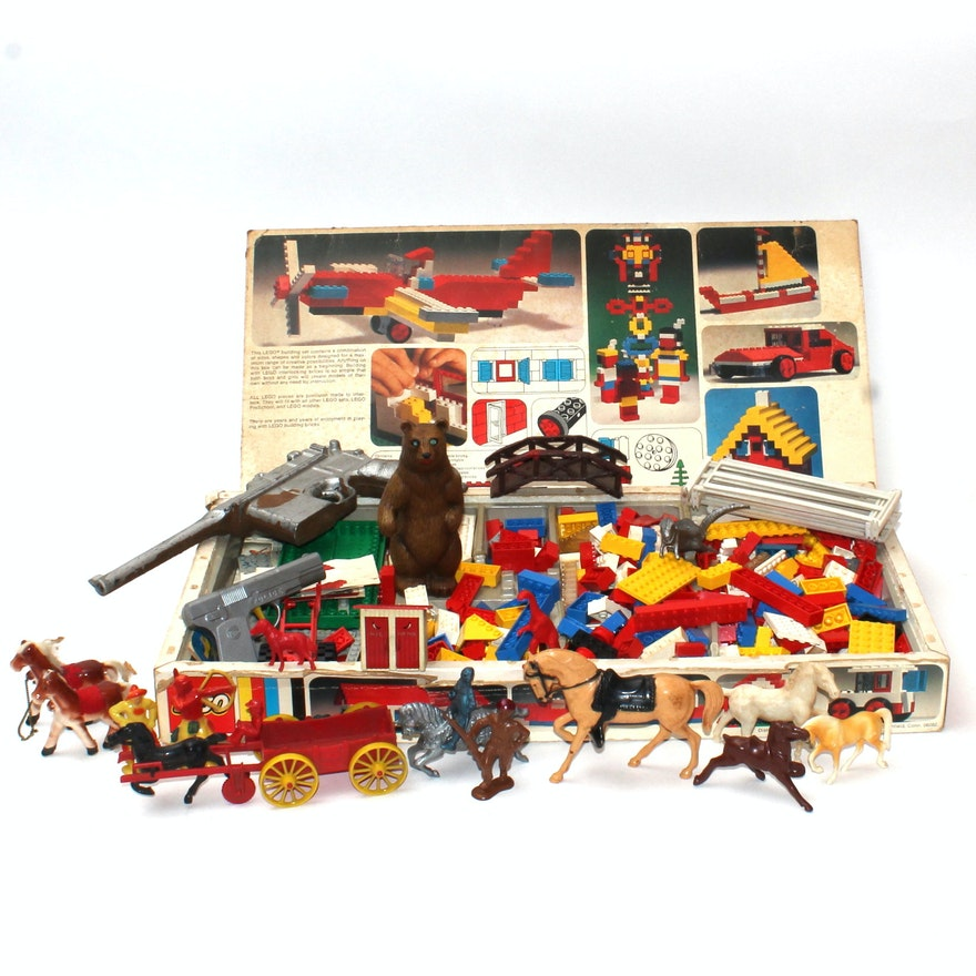 Vintage Legos And Assorted Vintage Toys Ebth