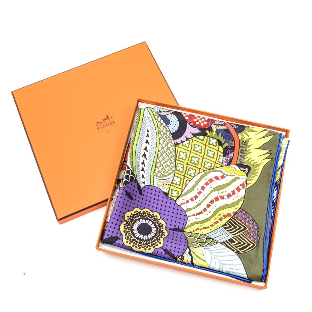 Hermès Fleurs d'Indiennes Silk Scarf