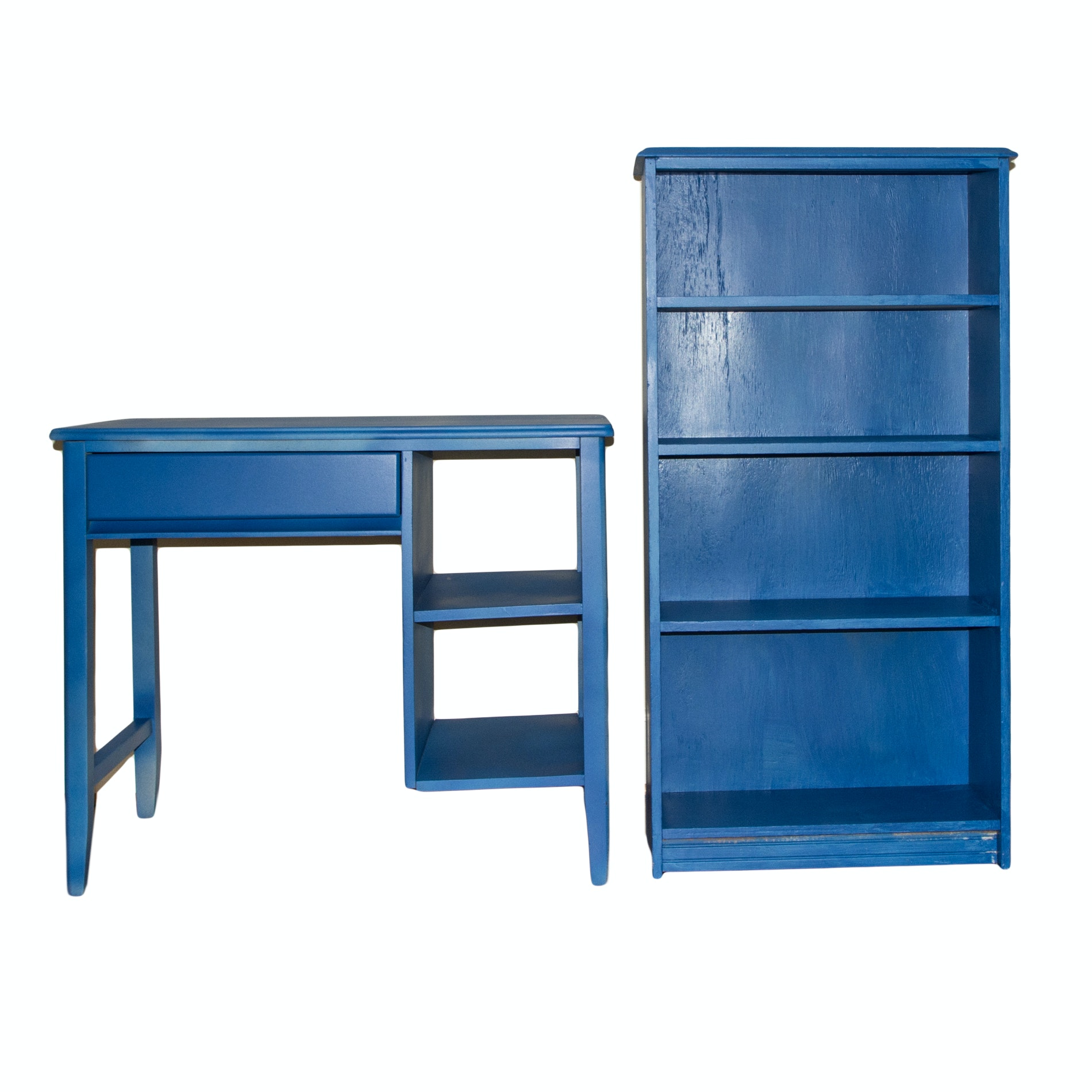 Blue Painted Student's Desk