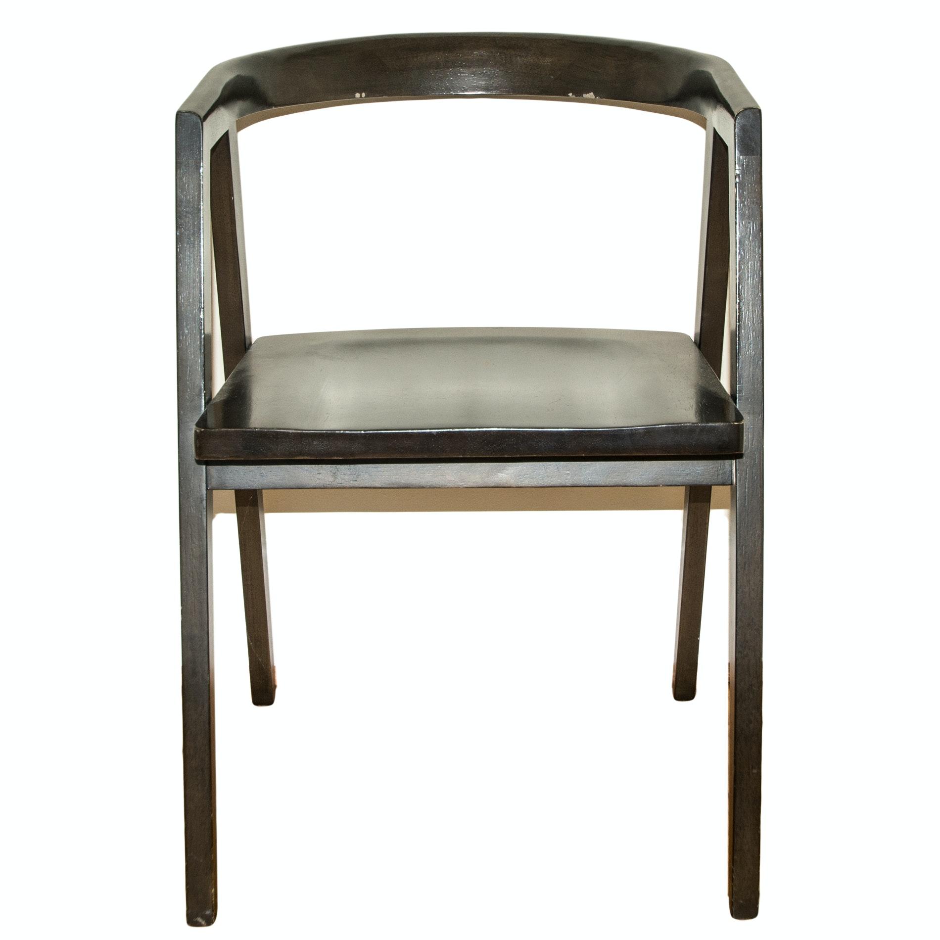 Barrel Back Wood Chair