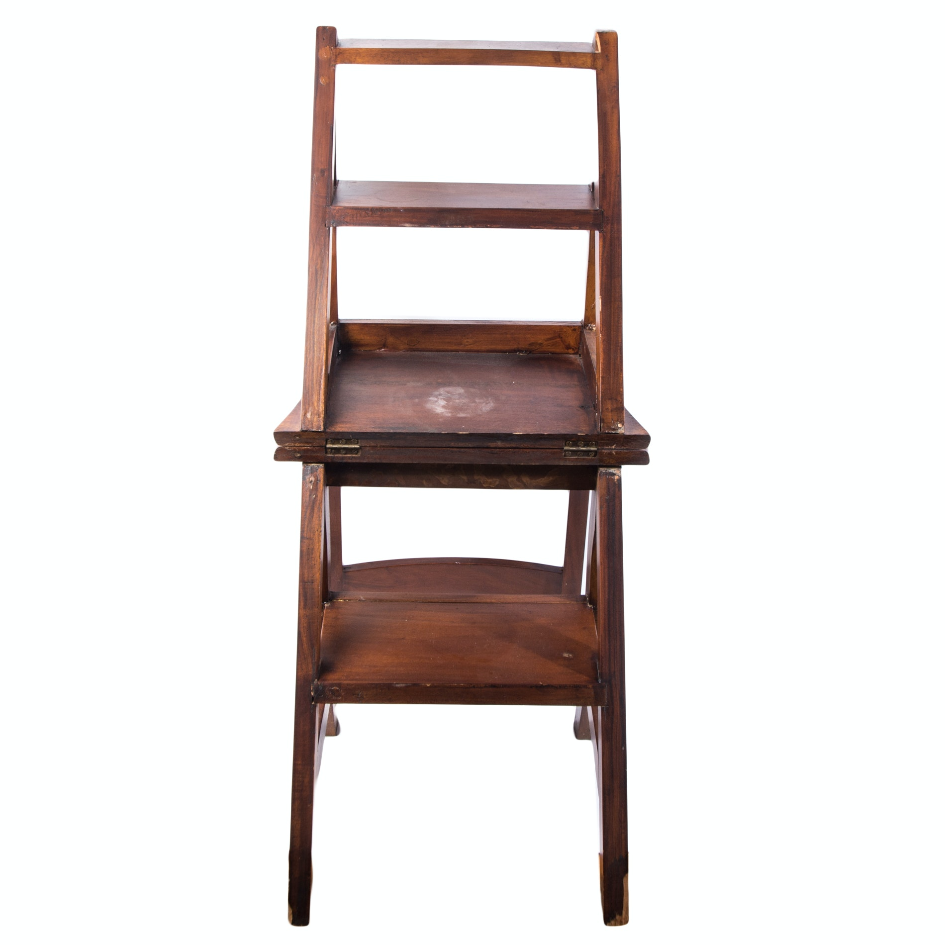 Vintage Folding Library Ladder Chair