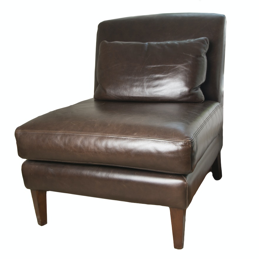 Stupendous Pottery Barn Turner Leather Chair Spiritservingveterans Wood Chair Design Ideas Spiritservingveteransorg