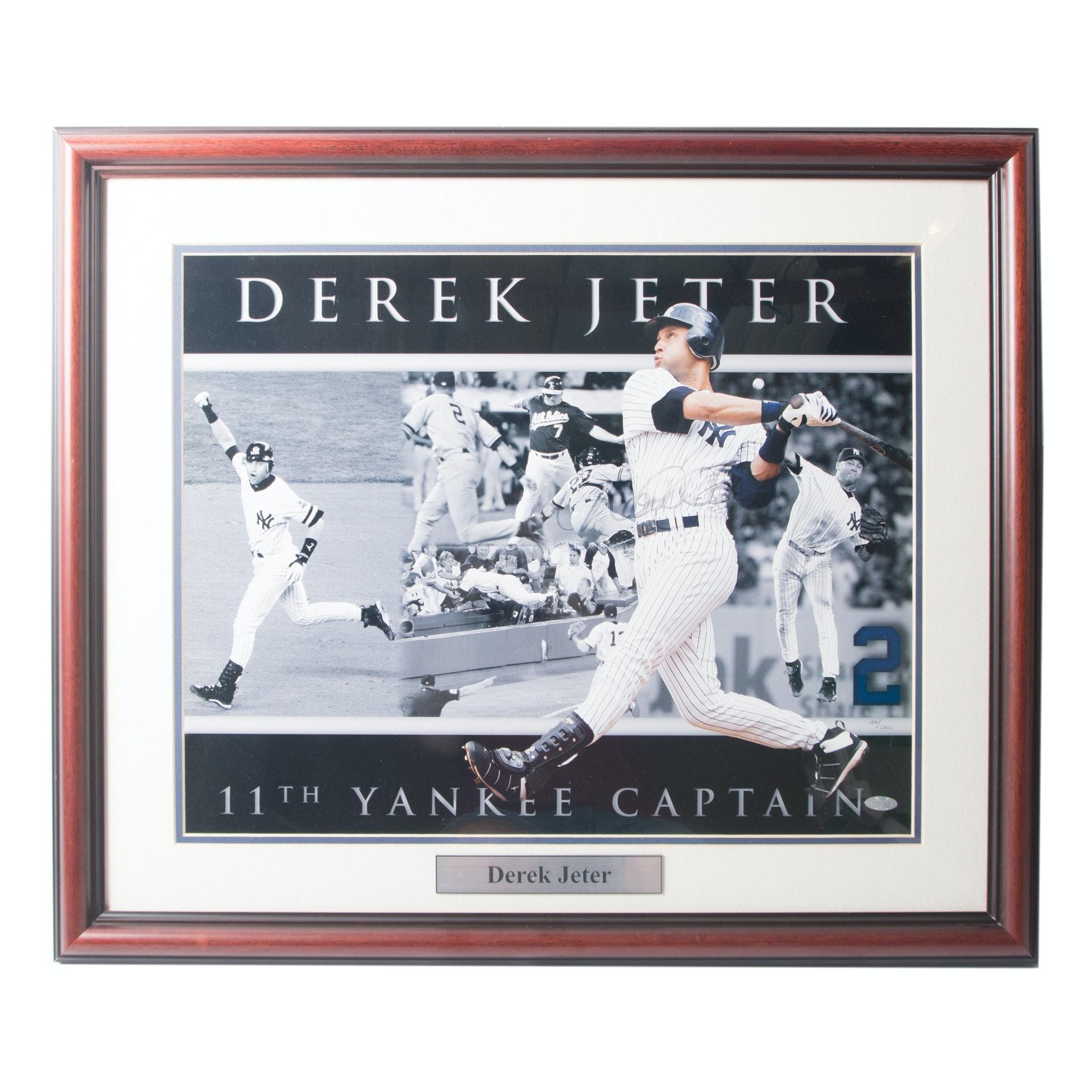 Derek Jeter Hand-signed Steiner Collage