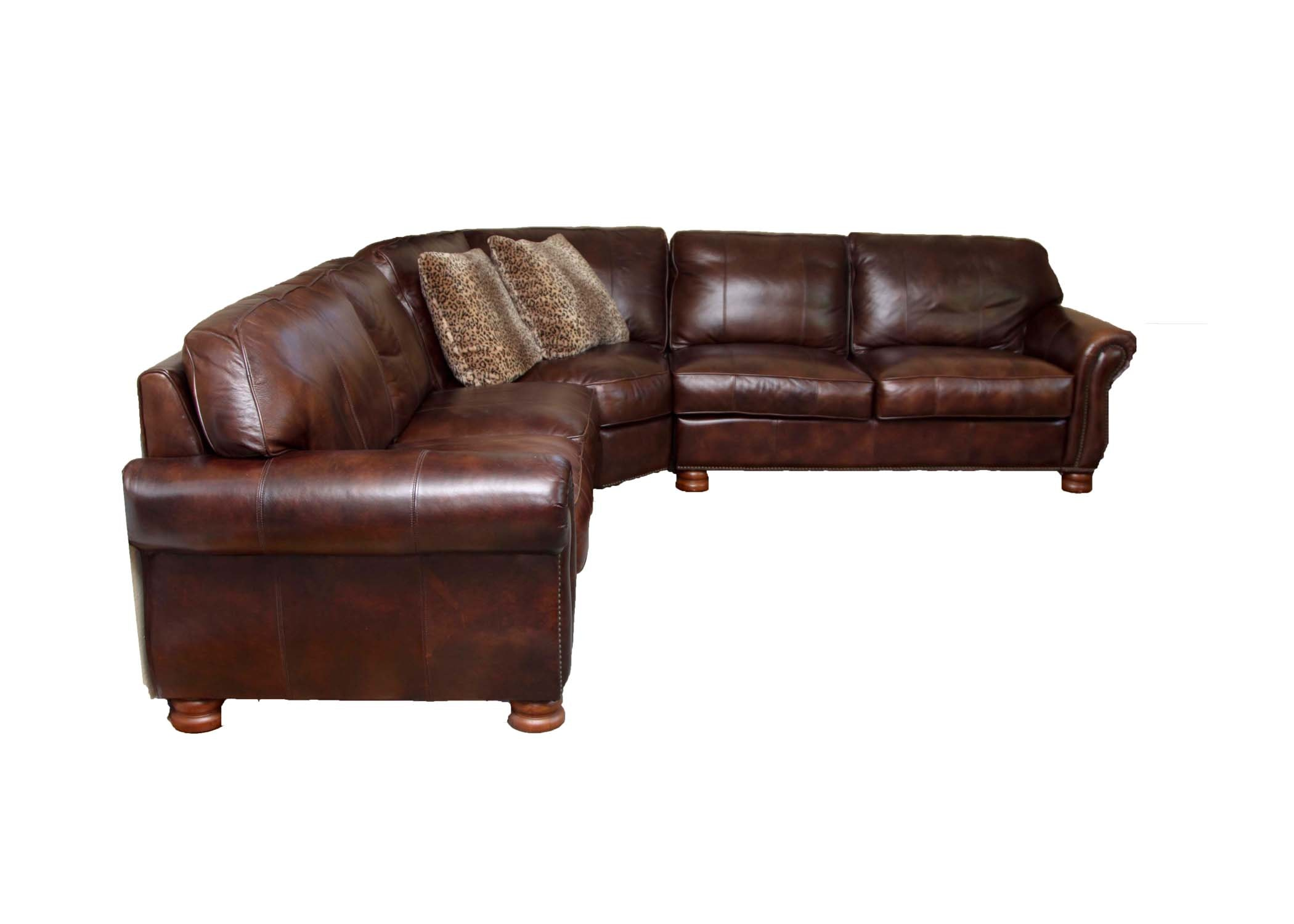 Thomasville Brown Leather Sectional Sofa EBTH