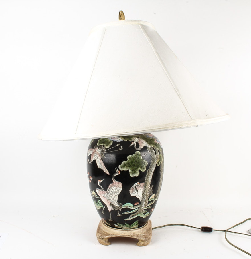 Chinese ceramic table lamp ebth chinese ceramic table lamp geotapseo Images