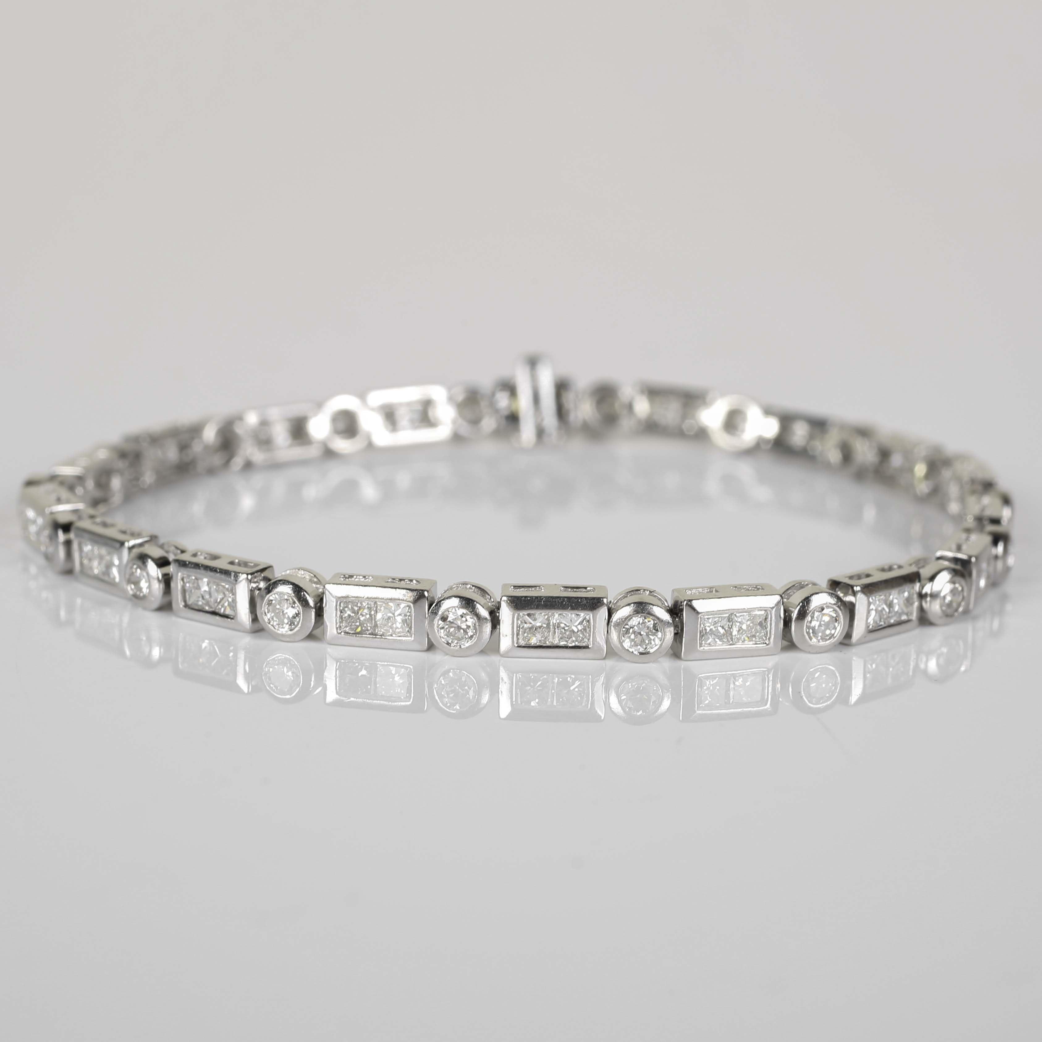 Platinum and 2.55 CTW Diamond Tennis Bracelet
